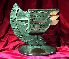 West of England Business of the Year Award trophy