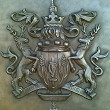 Cast bronze coat of arms