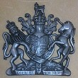 Coat of arms in cold cast aluminium finish