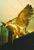 Eagle Star 3-metre sculpture finished in gold leaf