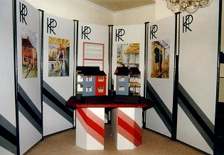 Technical models and complete exhibition stand