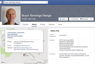 Bryan Rawlings Design Facebook page