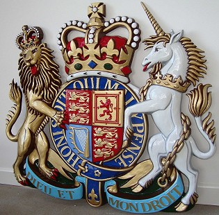 Coat of arms with helmet & mantling, Reynolds stone style, 60 inches