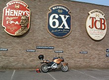 A set of three 10 foot high plaques for Wadworth's Brewery