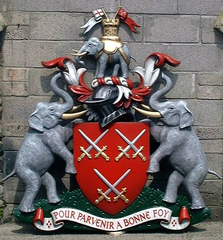 Completed Worshipful Company of Cutlers coat of arms