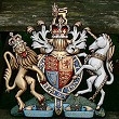 Coat of arms with helmet & mantling, special hand-painted, 18 inches