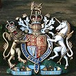 Coat of arms with helmet & mantling, special hand-painted, 22 inches