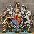 Coat of arms with helmet & mantling, special hand-painted, 48 inches