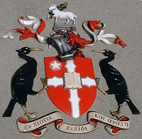 Liverpool Hope University coat of arms. One of three coats of arms supplied, 1.8 metres high.