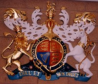 Royal coat of arms specially made for Coventry Crown Court, hand painted and gold leafed.