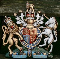18in royal special. GRP British royal coat of arms 18in/46cm high, hand painted (special).