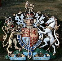 22in royal special. GRP British royal coat of arms 22in/56cm high, hand painted (special).
