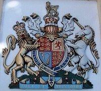 30in royal special. GRP British royal coat of arms 30in/76cm high, hand painted (special).