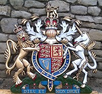 36in royal special. GRP British royal coat of arms 36in/92cm, hand painted (special).