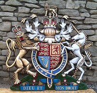 4ft royal special. GRP British royal coat of arms 48in/122cm, hand painted (special).