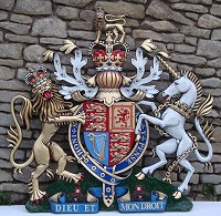 5ft royal special. GRP British royal coat of arms, 60in/152cm, hand painted (special).